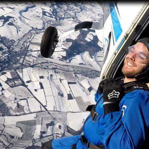 winter skydive